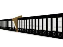 Le dossier pour les documents 3d rendent Photographie stock