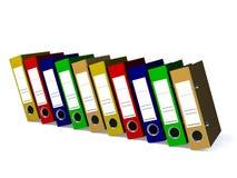 Le dossier pour les documents 3d rendent Images stock