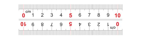 Le double bidirectionnel de r?gle a d?grossi 100 millim?tres, 10 centim?tres r Grille de calibrage