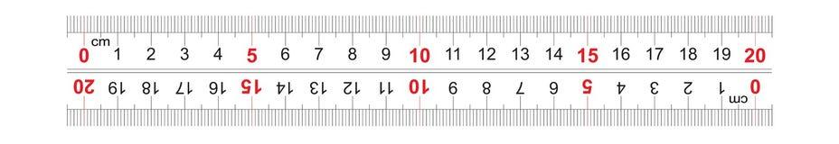 Le double bidirectionnel de r?gle a d?grossi 200 millim?tres, 20 centim?tres r Grille de calibrage
