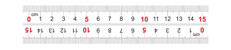Le double bidirectionnel de r?gle a d?grossi 150 millim?tres, 15 centim?tres r Grille de calibrage