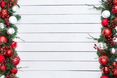 Le double a dégrossi frontière de fête de Noël Photos libres de droits