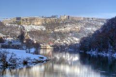 Le Doubs et Citadelle de Besançon Photo stock