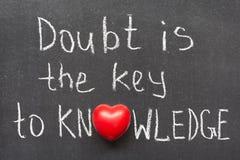 Le doute est photos libres de droits