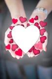 Le doy mi corazón Foto de archivo libre de regalías