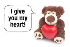 ¡Le doy mi corazón! Foto de archivo libre de regalías