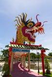 Le dragon élégant sur le ciel Images stock
