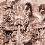 Le dragon chinois découpent Images libres de droits