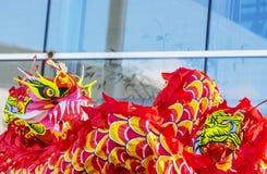 Le dragon chinois - l'année du chien, 2018 Image libre de droits