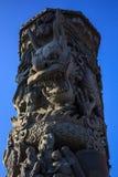 Le dragon dans la colonne Photos stock