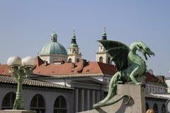 Le dragon de Ljubljana Photographie stock libre de droits
