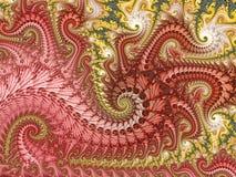 Le dragon a inspiré la fractale illustration libre de droits