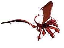 Le dragon rouge illustration stock