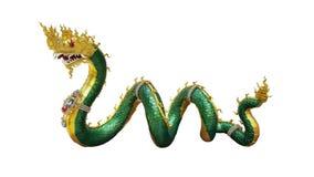 Le dragon thaïlandais de bouddhisme, statue de naka avec des chemins de coupure a isolé o Images libres de droits
