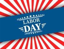 Le drapeau américain de ondulation avec la Fête du travail de typographie, le 7 septembre, a uni l'état de l'Amérique, conception Photographie stock