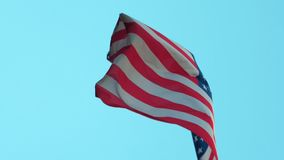 Le drapeau américain des Etats-Unis ondule banque de vidéos