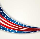 Le drapeau américain, dirigent le fond patriotique Image libre de droits