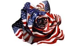 Le drapeau américain s'est levé Photos libres de droits