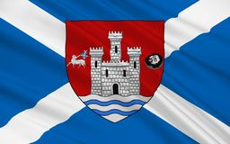 Le drapeau d'Ayr est une grande ville de l'Ecosse, Royaume-Uni de grand illustration de vecteur