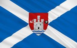 Le drapeau d'Ayr est une grande ville de l'Ecosse, Royaume-Uni de grand illustration stock