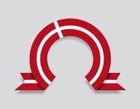 Le drapeau danois a arrondi le fond abstrait Illustration de vecteur illustration de vecteur