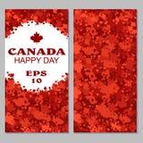 Le drapeau de Canada avec des feux d'artifice pour célèbrent le jour national du Canada illustration de vecteur