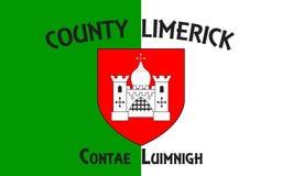 Le drapeau de Comté de Limerick est un comté en Irlande photos stock