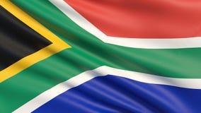 Le drapeau de l'Afrique du Sud, officiellement république sud-africaine RSA illustration stock