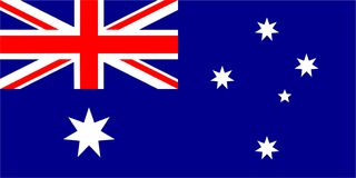 Le drapeau de l'Australie photo libre de droits
