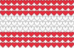 Le drapeau de l'Autriche aux coeurs Image libre de droits