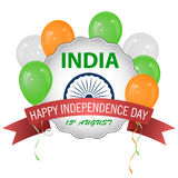 Le drapeau de l'Inde Couleurs et proportion officielles correctement ballons illustration stock