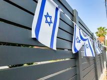 Le drapeau de l'Israël sur Yom Haatzmaut, Israel Independence Day Photographie stock