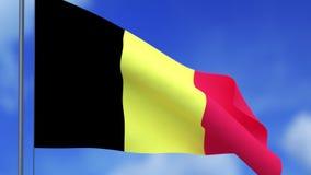 le drapeau de la Belgique et des nuages illustration libre de droits