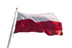 Le drapeau de la Pologne a isolé images libres de droits