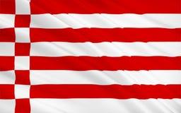 Le drapeau de la ville Hanseatic Free de Brême est le plus petit de l'Allemagne illustration de vecteur