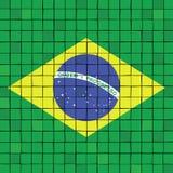 Le drapeau de mosaïque du Brésil Image libre de droits