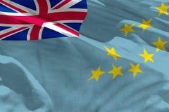 Le drapeau de ondulation du Tuvalu pour l'usage comme texture ou fond, le drapeau flotte sur le vent illustration libre de droits