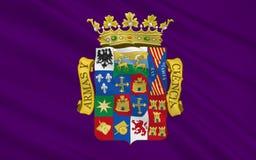 Le drapeau de Palencia est une province de l'Espagne du nord illustration stock
