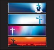 Le drapeau de site Web a placé pour le chrétien moderne illustration stock