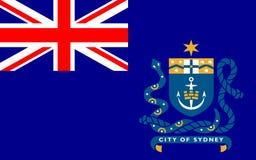 Le drapeau de Sydney est la capitale de l'État de la Nouvelle-Galles du Sud illustration libre de droits