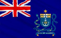 Le drapeau de Sydney est la capitale de l'État de la Nouvelle-Galles du Sud illustration de vecteur
