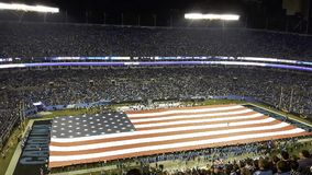 le drapeau des Etats-Unis dans un stade image stock