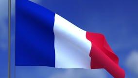 Le drapeau des Frances et des nuages illustration de vecteur