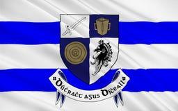 Le drapeau du comté Monaghan est un comté en Irlande images stock