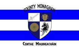 Le drapeau du comté Monaghan est un comté en Irlande images libres de droits