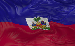 Le drapeau du Haïti ondulant dans le vent 3d rendent Photos libres de droits