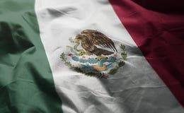 Le drapeau du Mexique a fripé étroit  photos stock