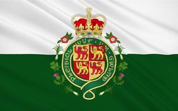 Le drapeau du Pays de Galles est un pays dont fait partie du Royaume-Uni illustration de vecteur