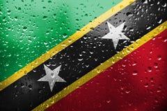 Le drapeau du saint Kitts et Niévès illustration de vecteur