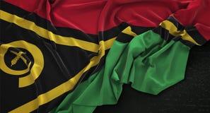 Le drapeau du Vanuatu a ridé sur le fond foncé 3D rendent illustration de vecteur